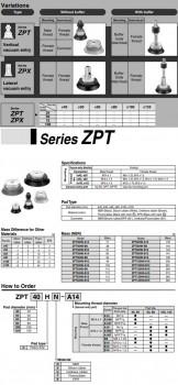 Giác hút chân không SMC dòng ZPT