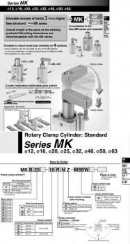 Xi lanh khí xoay kẹp SMC dòng MK